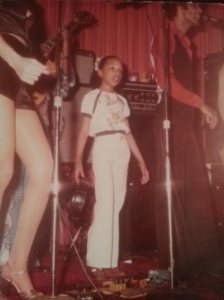 Young Monica on stage with my Daddy.