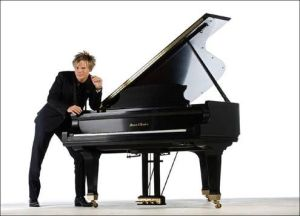 Brian Culbertson with his 7 foot Mason & Hamlin Model BB Grand Piano that was auctioned June 8, 2013 to benefit the GRAMMY Foundation